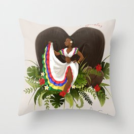 seychelles sega dancer Throw Pillow