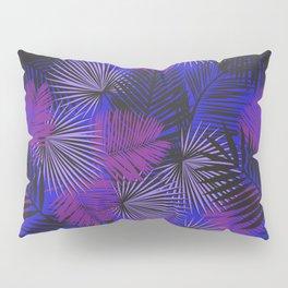 Tropical Black Purple & Blue Pillow Sham