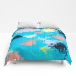Abstract Paint splatter design Comforters