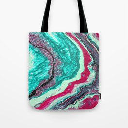 Crystalline Waves Tote Bag
