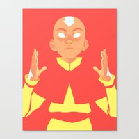 aang Canvas Prints featuring Avatar Aang by lisaveeee