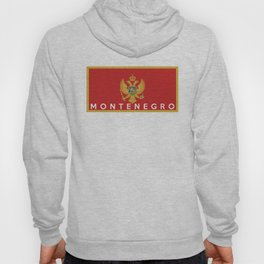 Montenegro country flag name text Hoody