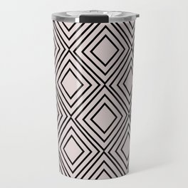Modern mauve pink geometric elegance diamond shapes Travel Mug