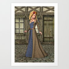 Medieval Lady Art Print