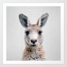 Kangaroo - Colorful Art Print