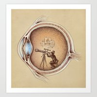 card Art Prints featuring Extraordinary Observer by Enkel Dika