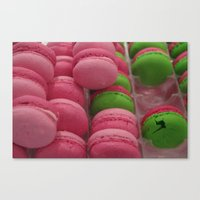 macaroon Canvas Prints featuring Cracked Macaroon by Gypsy Girl Art