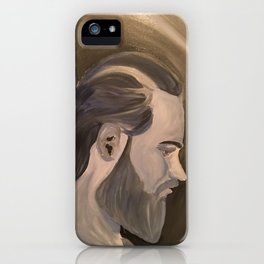 Blue Man Bun iPhone Case