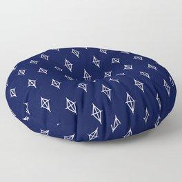 Diamond Pattern on Navy Floor Pillow