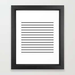 Minimalist Stripes Framed Art Print