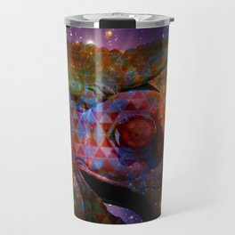 the great persian falcon stares from the cosmos Travel Mug