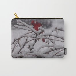 Red Cardinal in the Abyss Carry-All Pouch