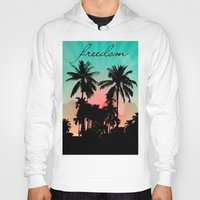 palm trees Hoodies featuring Palm Trees by mark ashkenazi