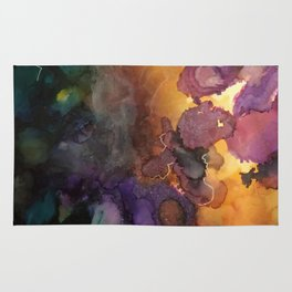 Abstract in Purple and Orange Rug