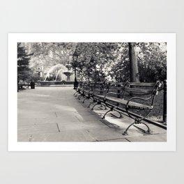 On a Park Bench At City Hall Art Print