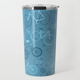 I love bikes in teal Travel Mug