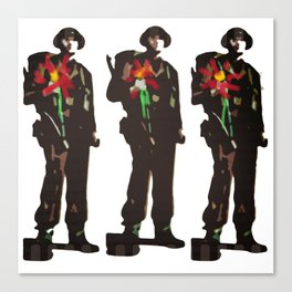 Flowers Not Guns Canvas Print