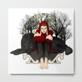 Moon Bunny Metal Print