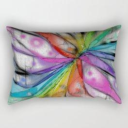 Kaleidoscope Dragonfly Rectangular Pillow