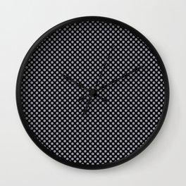 Black and Lilac Gray Polka Dots Wall Clock