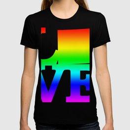 Wyoming Pride USA State Love Map T-shirt