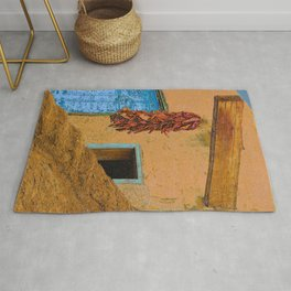 An Adobe Dwelling in the Pueblo of Taos, New Mexico Rug