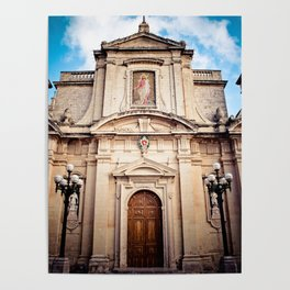 Mdina Cathedral in Matla Poster