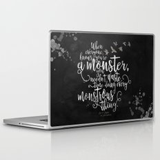Six of Crows - Monster - Black Laptop & iPad Skin