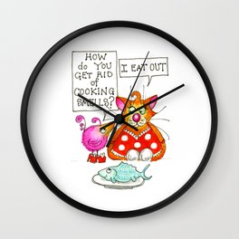 Always Eat Out Wall Clock