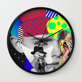 Shaughnessy Brown By Sebas Rivas Wall Clock