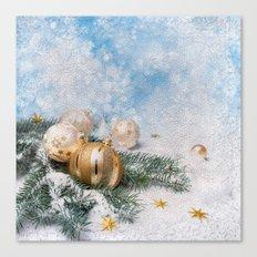 Gold Blue Ornaments Canvas Print