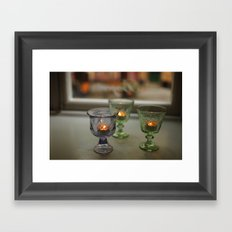 Swedish Candelight Framed Art Print