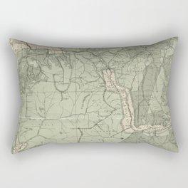 Vintage White Mountains New Hampshire Map (1915) Rectangular Pillow