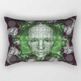 Cybernetic Rectangular Pillow