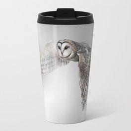 flying owl (tyto alba) Travel Mug
