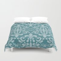 damask Duvet Covers featuring Damask by Xiao Twins