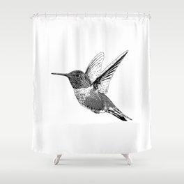 Hummingbird-Flying-Bird-Animal,Nectar-Flower Shower Curtain