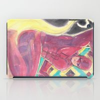 daredevil iPad Cases featuring Daredevil on watercolors by Adrian Onesimus Miciano