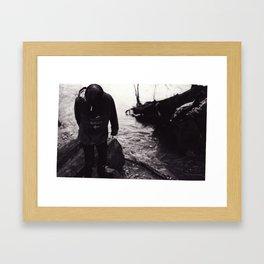 Boy by the River Framed Art Print