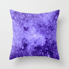 Lavender Galaxy Sparkle Stars Throw Pillow