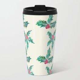 Winter Holly Travel Mug