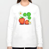 strawberry Long Sleeve T-shirts featuring Strawberry by LaDa