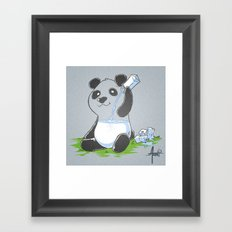 Panda in my FILLings Framed Art Print
