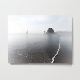Cannon Beach Breaking Waves Metal Print