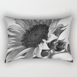 Sunflower Black & White Rectangular Pillow