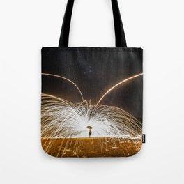 fire rain Tote Bag