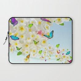Plumeria Butterflies Laptop Sleeve