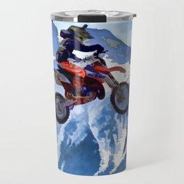 Mountain View - Dirt-bike Racer Travel Mug