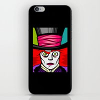 mad hatter iPhone & iPod Skins featuring Mad Hatter by Artistic Dyslexia
