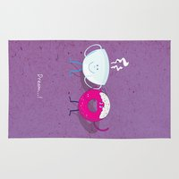 donut Area & Throw Rugs featuring Donut by Tony Vazquez